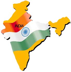 india-map-flag